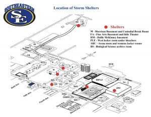 campus storm shelter locations