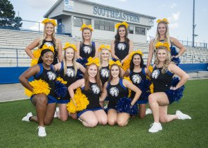 southeastern cheerleading team