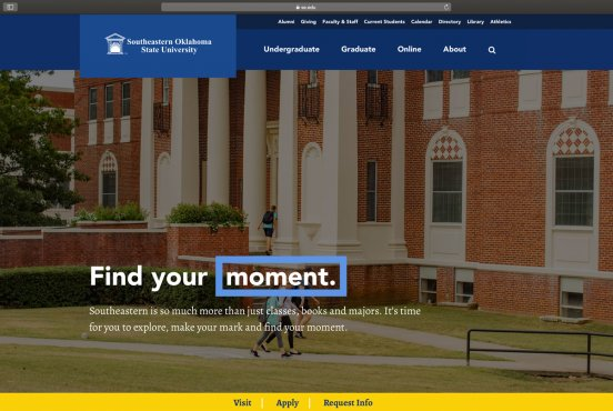 Southeastern debuts new website look Thumbnail