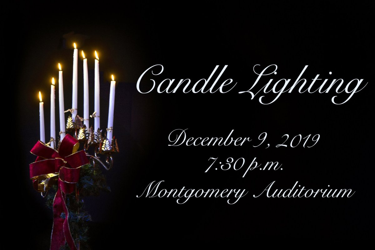 Candlelighting Scheduled for December 9 banner