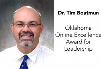 Dr. Tim Boatmun receives Oklahoma Online Excellence Award for Leadership Thumbnail