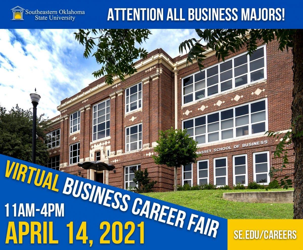 Virtual Business Career Fair banner