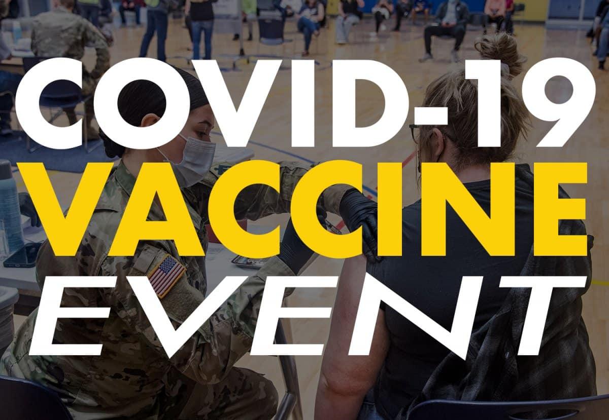Second Covid-19 Vaccine Event banner