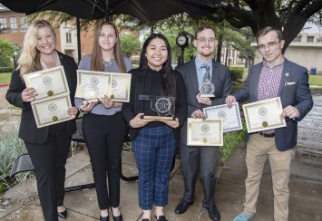 Southeastern students earn awards  at Oklahoma Intercollegiate Legislature competition Thumbnail