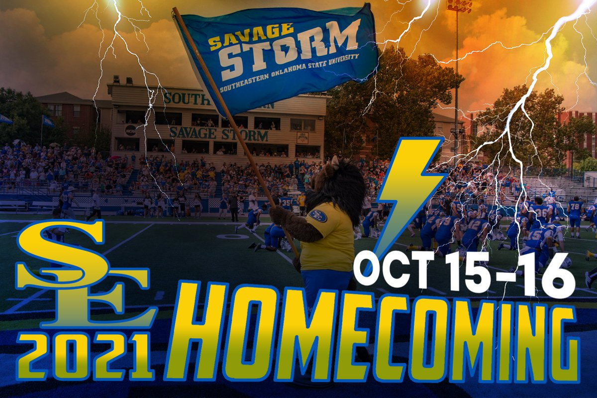 Southeastern announces schedule of activities for October Homecoming banner