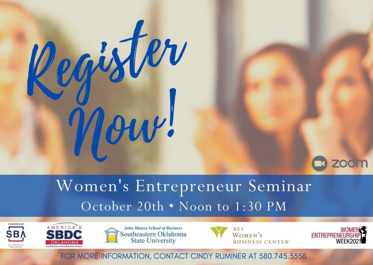 Women's Entrepreneurship Seminar banner